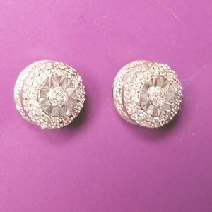 Jewelry - NWOT Sterling and Diamond Studs